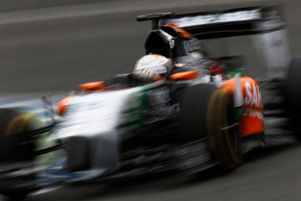 2014 F1 Pre Season Test 1 - Day 4 Circuito de Jerez, Jerez, Spain. Friday 31 January 2014. Daniel Juncadella, Force India VJM07 Mercedes. World Copyright: Andrew Ferraro/LAT Photographic. ref: Digital Image _79P7904.JPG