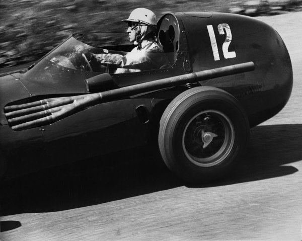 Nurburgring, Germany.  2nd - 4th August 1957. Stuart Lewis-Evans (Vanwall VW4), retired, action. World Copyright: LAT Photographic.Ref:  B/W Print.