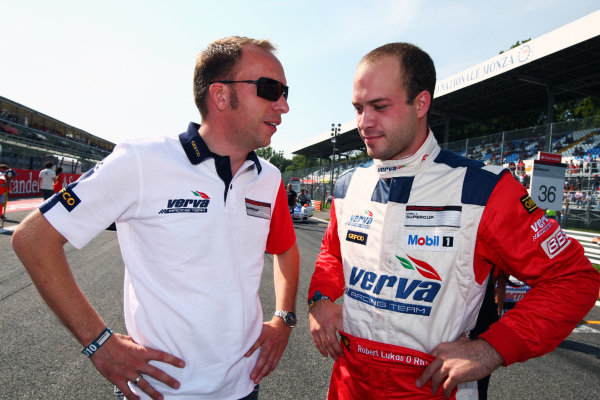 Robert Lukas (POL) Verva Racing Team on the grid. Porsche Supercup, Rd 9, Monza, Italy, 10-12 September 2010.