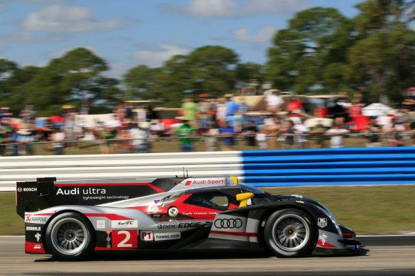 Sebring, Florida, USA. 15th-17th March 2012,Allan McNish/Tom Kristensen/Dindo Capello - Audi Sport Team Joest Audi R18 TDIWorld Copyright: Ebrey/LAT Photographic.