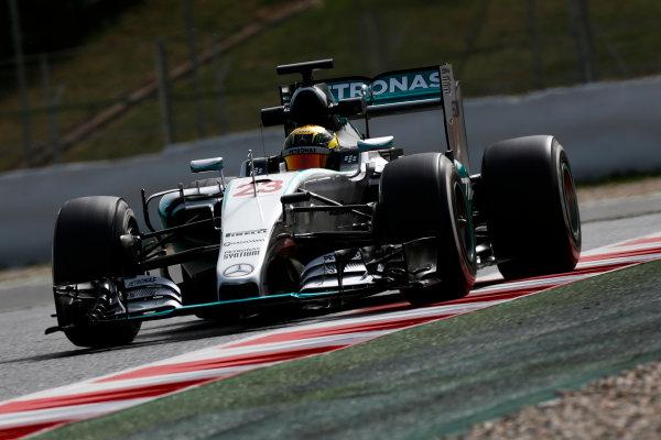 Circuit de Catalunya, Barcelona, Spain. Wednesday 13 May 2015. Pascal Wehrlein, Mercedes F1 W06 Hybrid.  World Copyright: Alastair Staley/LAT Photographic. ref: Digital Image _79P5153