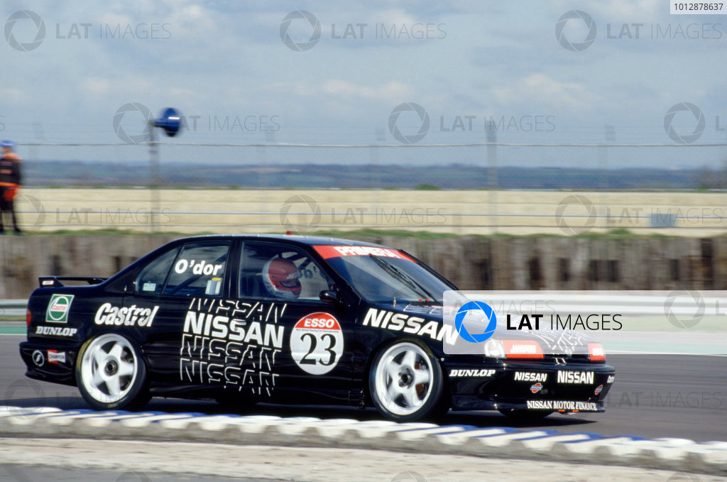 1992 British Touring Car Championship Silverstone, Great Britain Kieth O'dor (Nissan).World Copyright: LAT Photographic