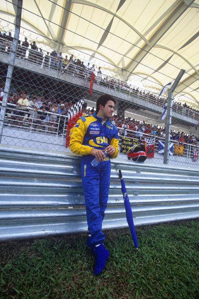 Sepang, Kuala Lumpur, Malaysia. 15-17 October 1999. Ricardo Zonta (BAR 01 Supertec). Portrait. Ref: 99MAL61. World Copyright - LAT Photographic