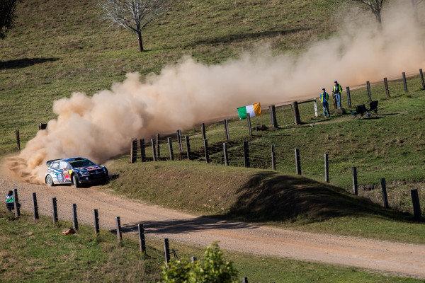 Jari-Matti Latvala (FIN) / Miikka Anttila (FIN), Volkswagen Polo R WRC at FIA World Rally Championship, R10, Coates Hire Rally Australia, Day Two, Coffs Harbour, New South Wales, Australia, 12 September 2015.