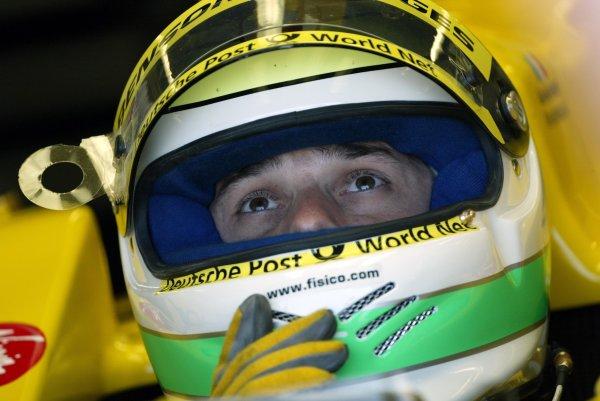 2002 Canadian Grand Prix - PracticeMontreal, Canada. 7th June 2002Giancarlo Fisichella (Jordan-Honda).World Copyright: Steve Etherington/LATref: Digital Image Only