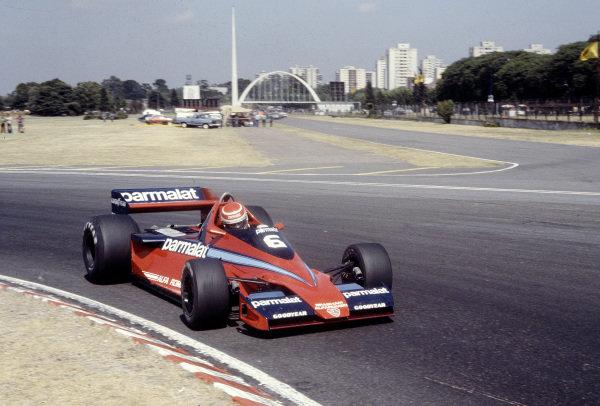 1979 Argentinian Grand Prix.Buenos Aires, Argentina.19-21 January 1979.Nelson Piquet (Brabham BT46 Alfa Romeo).Ref-79 ARG 30.World Copyright - LAT Photographic