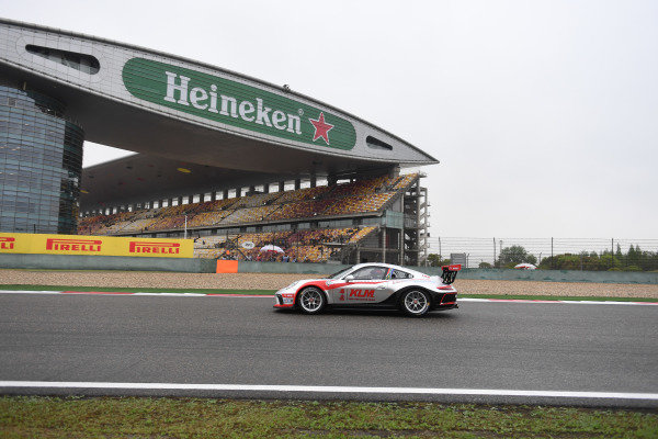 Jordan Pepper (RSA) Kamlung Racing at Porsche Carrera Cup Asia, Shanghai, China, 13-15 April 2018.