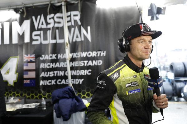 #12 AIM Vasser Sullivan Lexus RC F GT3, GTD:  Townsend Bell, NBC