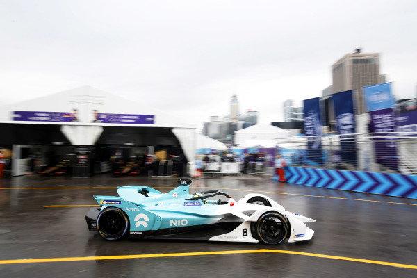 Tom Dillmann (FRA), NIO Formula E Team, NIO Sport 004 passes through the pit lane