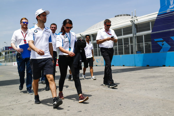 Alexander Sims (GBR) BMW I Andretti Motorsports on the track walk
