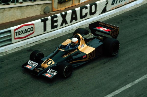 1977 Monaco Grand Prix.Monte Carlo, Monaco.20-22 May 1977.Jody Scheckter (Wolf WR1 Ford) 1st position.World Copyright - LAT Photographic