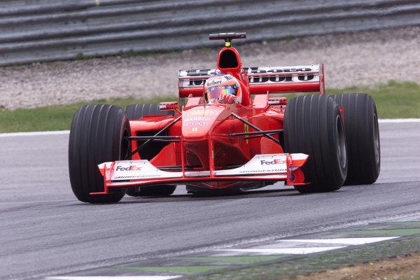 2000 Austrian Grand Prix.A1-Ring, Zeltweg, Austria.14-16 July 2000.Rubens Barrichello (Ferrari F1-2000) 3rd position.World Copyright - LAT Photographic