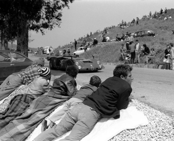 2003 Racing Past. . Exhibition1970 Targa Florio, Sicily. Jonathan Williams (Alfa Romeo T33/2), 7th position.World Copyright - LAT PhotographicExhibition ref: a065
