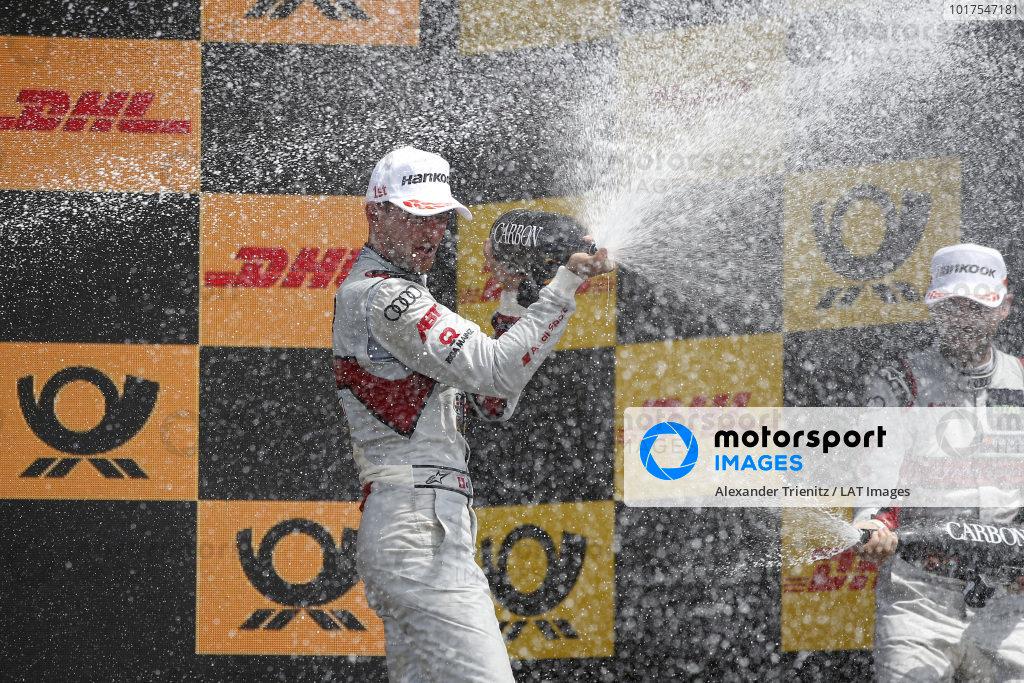 Podium: Race winner Nico Müller, Audi Sport Team Abt Sportsline.