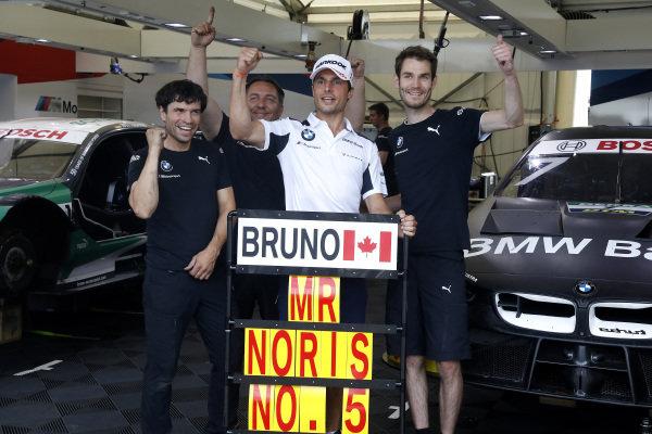 Bruno Spengler, BMW Team RMG with the team.
