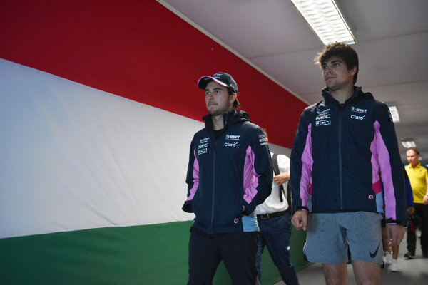 Sergio Perez, Racing Point, and Lance Stroll, Racing Point