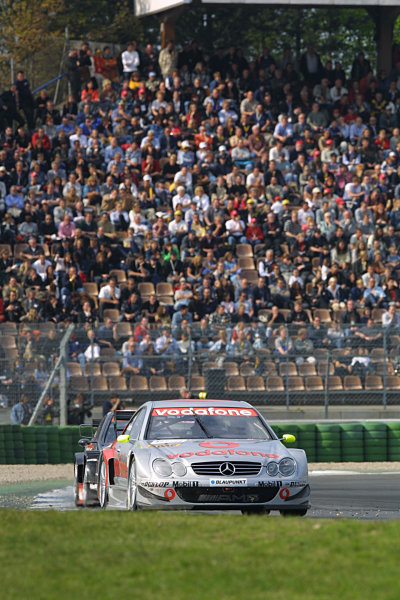 2002 DTM Championship Race.Hockenheim, Germany. 20-21 April 2002.Bernd Schneider leads Timo Scheider for 4th place.World Copyright: Spinney/LAT Photographic.Ref.: 8 5mb Digital Image Only.