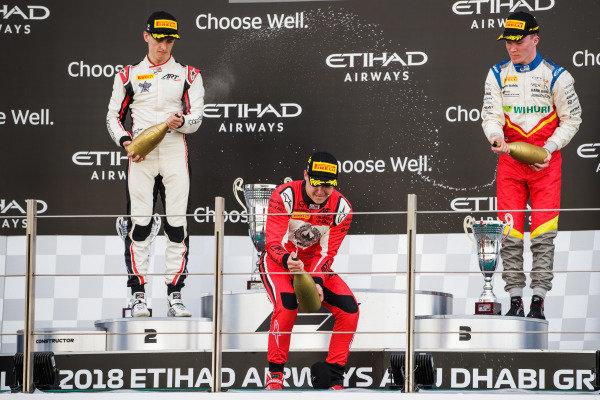 Jake Hughes (GBR, ART Grand Prix), Nikita Mazepin (RUS, ART Grand Prix), Simo Laaksonen (FIN, Campos Racing)
