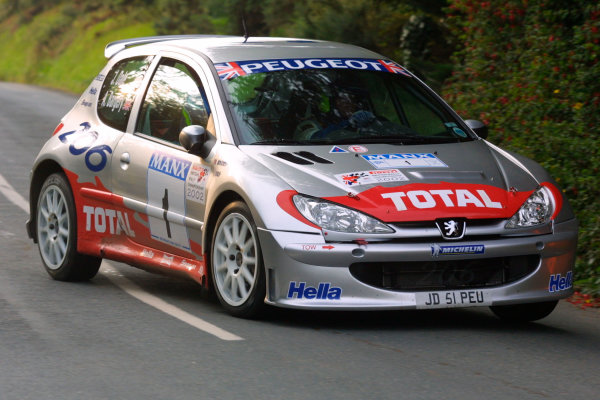 2002 British Rally Championship.Manx International Rally. Douglas, Isle of Man.1-3 August 2002.Justin Dale/Andrew Bargery (Peugeot 206) 1st position in the S16 class (6th overall).Ref-02 MIR 36.World Copyright - Malcolm Griffiths/LAT Photographic