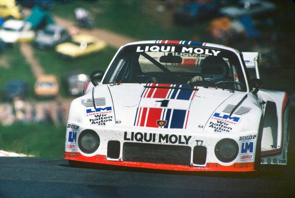 Nurburgring, Germany. 3rd June 1979. Rd 5.Volkert Merl/Derek Bell/Rolf Stommelen (Porsche 935), 5th position, action. World Copyright: LAT Photographic.Ref:  79SCARS