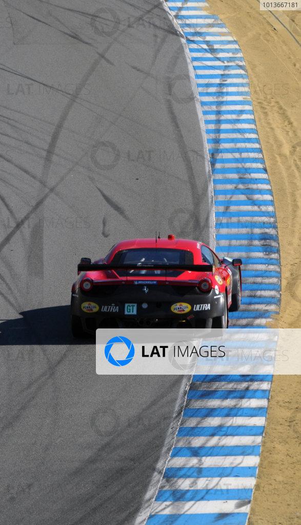 16-18 September, 2011, Monterey, California USA#62 Risi Competizione Ferrari F458 Itallia(c)2011,  Dan R. Boyd  LAT Photo USA