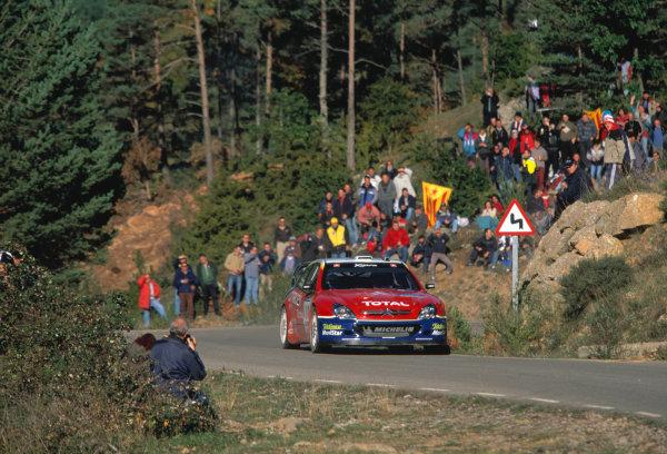 2003 World Rally Championship, Catalunya, Spain, Rd13. 23 - 26 October 2003.Sebastien Loeb, Citroen. ActionWorld Copyright: McKlein/LAT PhotographicRef: Transparency 03_WRC_Rd13_03
