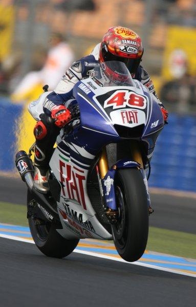 2008 MotoGP Championship.Le Mans, France. 15th - 18th May, 2008.Jorge Lorenzo Fiat Yamaha Team 2nd fastest during Free Practice 1.World Copyright: Martin Heath / LAT Photographic