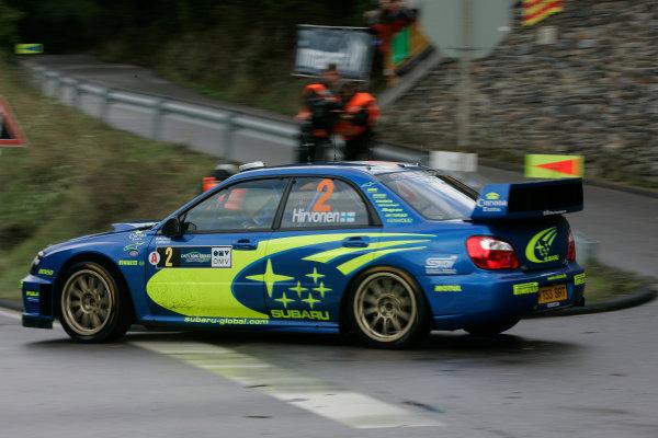 2004 FIA World Rally Champs. Round ten, OMV Deutschland Rally.19th - 22nd August 2004.Mikko Hirvonen, Subaru, action.World Copyright: McKlein/LAT