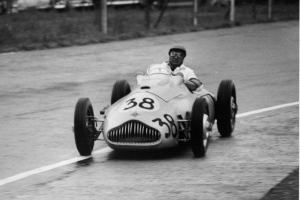 1952 Belgian Grand Prix.Spa-Francorchamps, Belgium. 22 June 1952.Arthur Legat (Veritas Meteor). Ref-52/25 #20.World Copyright - LAT Photographic