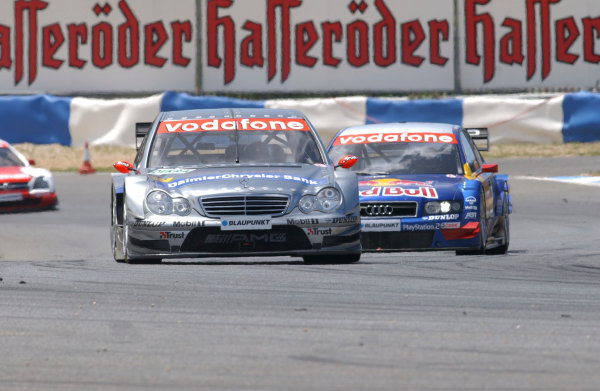 2004 DTM ChampionshipEstoril, Portugal. 1st - 2nd May 2004.Christijan Albers (HWA Mercedes C-Class) leads Mattias Ekstrom (Abt Sportsline Audi A4), action.World Copyright: Andre Irlmeir/LAT Photographicref: Digital Image Only