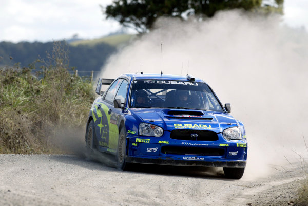 2004 FIA World Rally Champs. Round four, Propecia Rally New Zealand.15th-18th April 2004.Petter Solberg, Subaru, action.World Copyright: McKlein/LAT