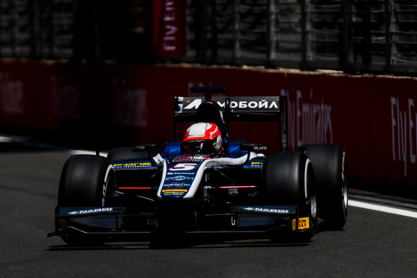 2017 FIA Formula 2 Round 4. Baku City Circuit, Baku, Azerbaijan. Friday 23 June 2017. Luca Ghiotto (ITA, RUSSIAN TIME)  Photo: Zak Mauger/FIA Formula 2. ref: Digital Image _54I9691
