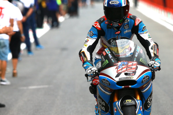 2017 Moto2 Championship - Round 6 Mugello, Italy Sunday 4 June 2017 Alex Marquez, Marc VDS,  with Nicky Hayden 69 tribute number World Copyright: Gold & Goose Photography/LAT Images ref: Digital Image 674792