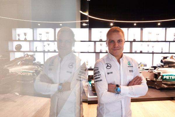 Mercedes F1 Driver Announcement Mercedes AMG Factory, Brackley, UK Monday 16 January 2017 Valtteri Bottas is announced as the new Mercedes AMG F1 driver for 2017. World Copyright: Steve Etherington/LAT Photographic ref: Digital Image SNE11820