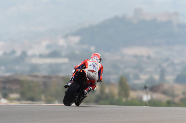 2017 MotoGP Championship - Round 14 Aragon, Spain. Friday 22 September 2017 Andrea Dovizioso, Ducati Team World Copyright: Gold and Goose / LAT Images ref: Digital Image 693829