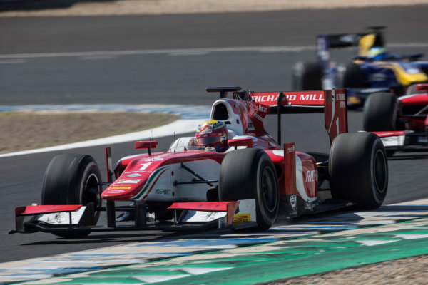 2017 FIA Formula 2 Round 10. Circuito de Jerez, Jerez, Spain. Sunday 8 October 2017. Charles Leclerc (MCO, PREMA Racing).  Photo: Andrew Ferraro/FIA Formula 2. ref: Digital Image _FER3508