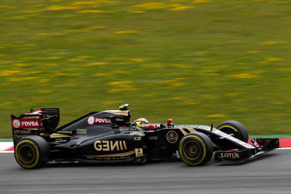 Pastor Maldonado (VEN) Lotus E23 Hybrid at Formula One World Championship, Rd8, Austrian Grand Prix, Qualifying, Spielberg, Austria, Saturday 20 June 2015.