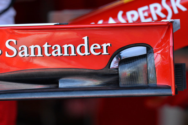 Ferrari F14 T front wing detail. Formula One World Championship, Rd1, Australian Grand Prix, Preparations, Albert Park, Melbourne, Australia, Thursday 13 March 2014.