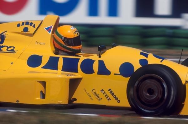 Race winner Eddie Irvine (GBR) EJR Reynard 90D-Mugen. International Formula 3000 Championship,  Hockenheim, Germany, 29 July 1990.