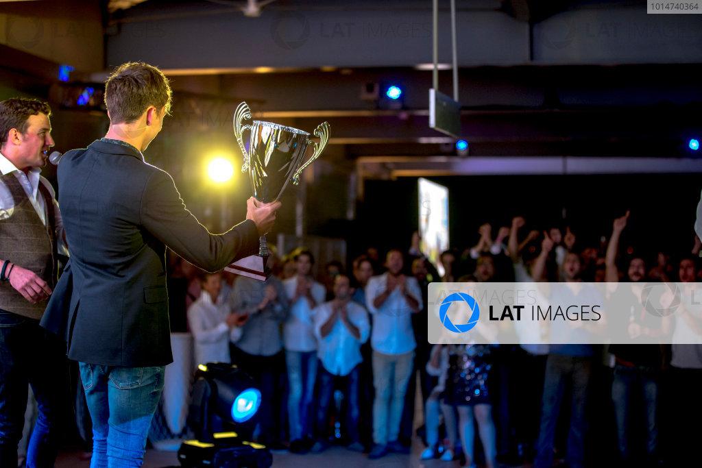 2016 GP2/3 Awards Evening. Yas Marina Circuit, Abu Dhabi, United Arab Emirates. Sunday 27 November 2016. Pierre Gasly (FRA, PREMA Racing)  Photo: Zak Mauger/GP2 Series Media Service/GP3 Series Media Service. ref: Digital Image _X0W9980