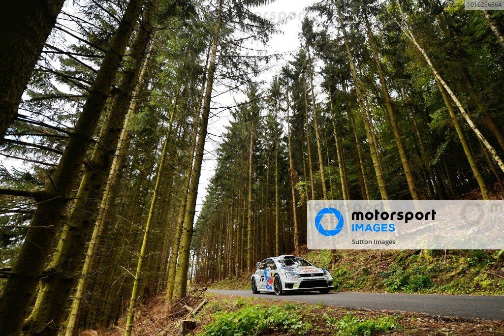 Andreas Mikkelsen (NOR) / Mikko Markkula (FIN), Volkswagen Polo R WRC. FIA World Rally Championship, Rd11, Rallye De France, Strasbourg, Alsace, France. Day Two, Saturday 4 October 2014.