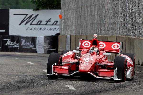 1-2 June, 2012, Detroit, Michigan, USAEventual winner Scott Dixon (#9)(c)2012, F. Peirce WilliamsLAT Photo USA