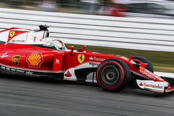 Sebastian Vettel (GER) Ferrari SF16-H at Formula One World Championship, Rd12, German Grand Prix, Qualifying, Hockenheim, Germany, Saturday 30 July 2016.