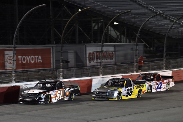 #51: Chandler Smith, Kyle Busch Motorsports, Toyota Tundra JBL/Smith General Contracting #98: Grant Enfinger, ThorSport Racing, Ford F-150 Champion/Curb Records