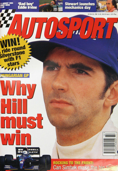Cover of Autosport magazine, 11th August 1994