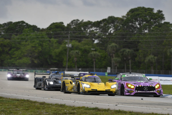 #85 JDC-Miller Motorsports Cadillac DPi, DPi: Misha Goikhberg, Tristan Vautier, Juan Piedrahita, #71 P1 Motorsports Mercedes-AMG GT3, GTD: Maximilian Buhk, Fabian Schiller, JC Perez
