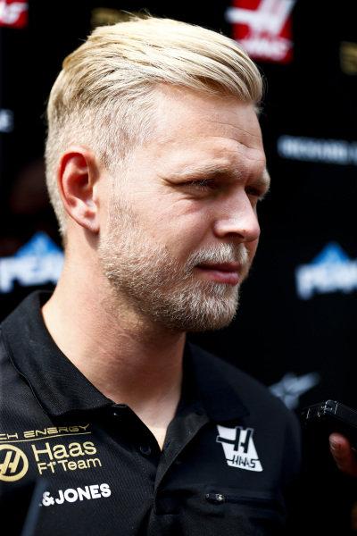 Kevin Magnussen, Haas F1 speaks to the media