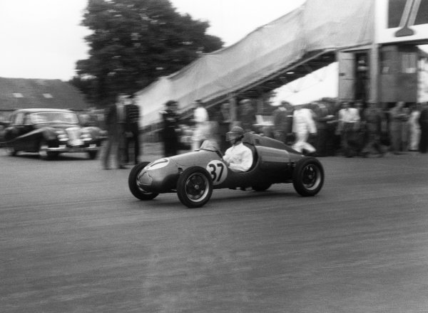 Silverstone, England. 14th July 1951.Arthur Gill (Cooper Mk IV-JAP), retired, action. World Copyright: LAT Photographic.Ref:  B/WPRINT.