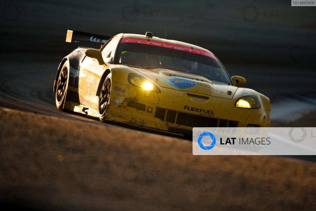 American Le Mans Series. Laguna Seca, Monterey, California. 15th - 17th September 2011. Olivier Beretta / Tommy Milner, Corvette Racing, Chevrolet Corvette C6 ZR1. Action. Photo: Drew Gibson/LAT Photographic. ref: Digital Image _Y2Z7012