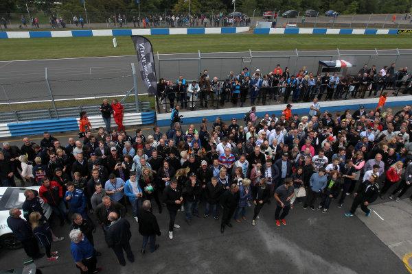 2014 Avon Tyres British GT Championship, Donington Park, Leicestershire. 13th - 14th September 2014. Crowds at Donington Park. World Copyright: Ebrey / LAT Photographic.